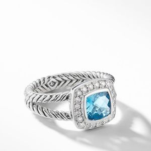 David Yurman Petite Albion Ring w/ Blue Topaz